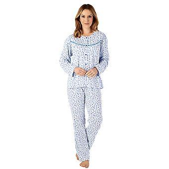 Slenderella PJ4114 Women's Jersey Floral Cotton Pyjama Set