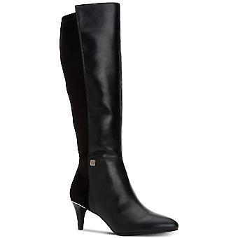 Alfani mujeres HAKUU cuero puntiagudo rodilla botas de alta moda