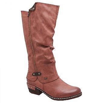 Rieker Brown showerproof ocidental alinhado boot
