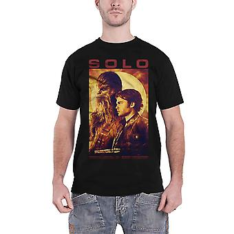 Star Wars T Shirt Han Solo Movie Profile Chewbacca new Official Mens Black