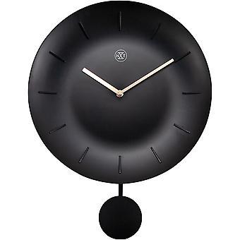 nXt - Wall clock - Ø 30 cm - Plastic - Black - 'Bowl'