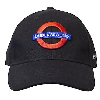Licensed unisex london underground baseball cap black