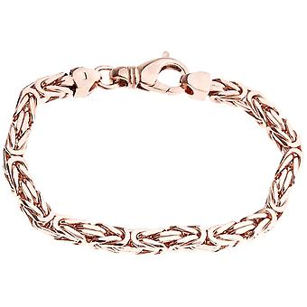 Sterling 925 Silver King armband - DOTTE 6x6mm ros guld