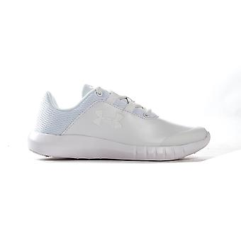 Under Armour Mojo Junior Kids Boys Lace Up Sports Trainer Shoe White