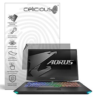 Celicious Privacy Plus 4-Way Anti-Spy Filter Screen Protector Film Compatible with Aorus 15 RTX 20 15-W9