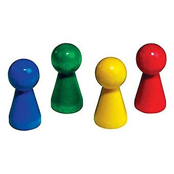 Betzold Giant Wooden Cone Set 20-Piece Toy - Blue (1870)