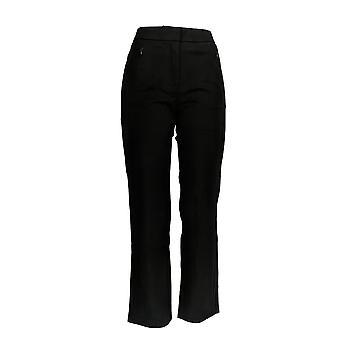 Isaac Mizrahi Live! Kvinner ' s Petite bukser 24/7 strekk straight svart A270582