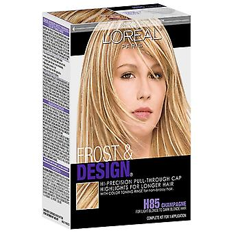 L'oreal paris frost & design cap hair highlights, champagne h85, 1 kit