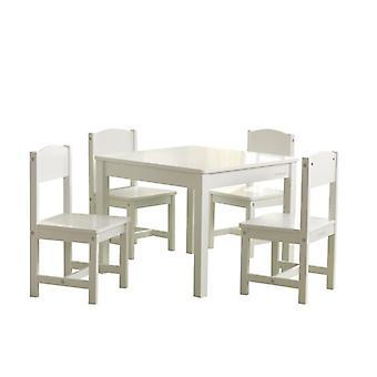 KidKraft set tafel en 4 boerderij houten stoelen