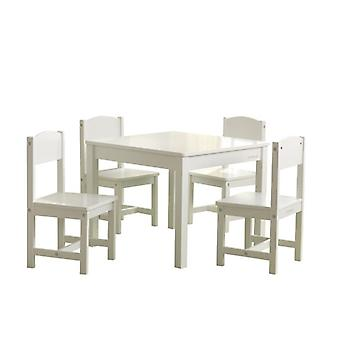 KidKraft Set Tavolino e 4 Sedie in Legno Farmhouse