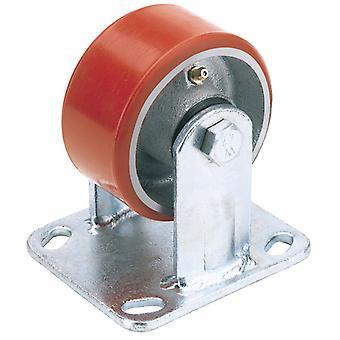 100mm dia. vaste plaat bevestiging Heavy Duty polyurethaan wiel-S. W.L. 250Kg-606100F