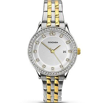 Sekonda Ladies Two-tone Stainless Steel/gold Plated Quartz Watch With Date Display 2388.00
