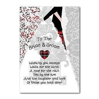 Broderet originaler til bruden & gommen