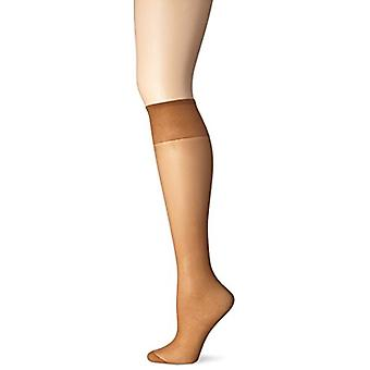 Just My Size Women's 4-Pack One size Knee High Panty Hose, Suntan, One Size