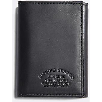 Rip Curl Vertical RFID All Day Leather Wallet in Black