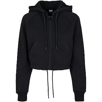 Urban Classics vrouwen zip hoodie oversized korte raglan