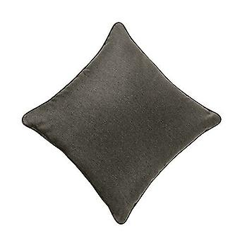 Graphite 18-quot; Wool Feel Soft Fabric Piped Cushions Ready Filled with Fibre Pads Graphite 18-quot; Wool Feel Soft Fabric Piped Cushions Ready Filled with Fibre Pads Graphite 18