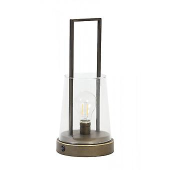 Lys og levende bordlampe LED 15x35cm Calry Old Brass