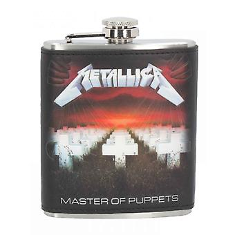 Metallica Hip Flask Master of Puppets Band Logo 7oz neue offizielle Boxed