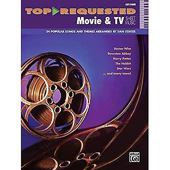 Top-aangevraagde film & TV bladmuziek: Easy Piano (Top gevraagde bladmuziek)