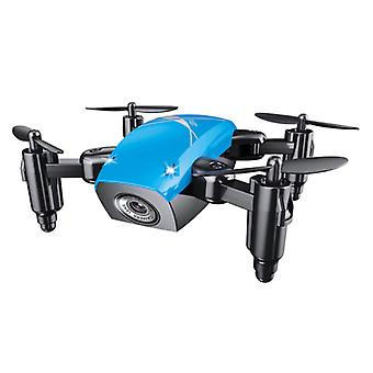 Stuff Certified® S9W Mini RC Pocket Drone Quadcopter Toy with Gyro Stabilization Blue
