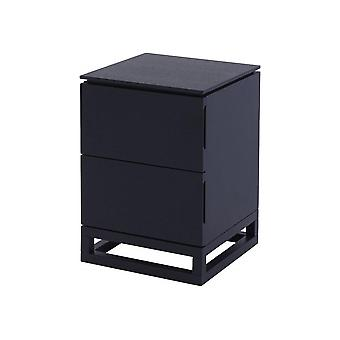 Gillmore Wenge Small Bedside Chest Of Drawers