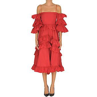 Alexa Chung Ezgl465002 Damen's rotes Polyesterkleid