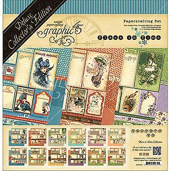 "Grafik 45 Deluxe Collector's Edition Pack 12""X12"" - Plats i tid - Odaterad Kalender Designs"