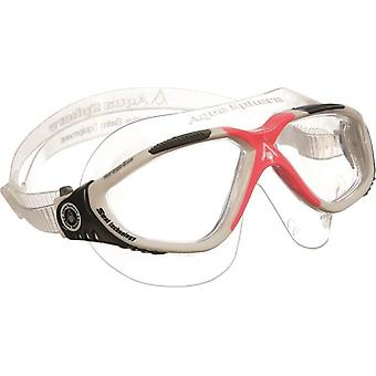 Aqua Sphere Vista Ladies White / Red Swim Goggles - Clear Lenses