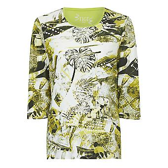 TIGI Ribbed Jungle-Print Top