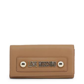 Love Moschino Original Women Jesień/Zima Clutch Bag - Brązowy Kolor 40628
