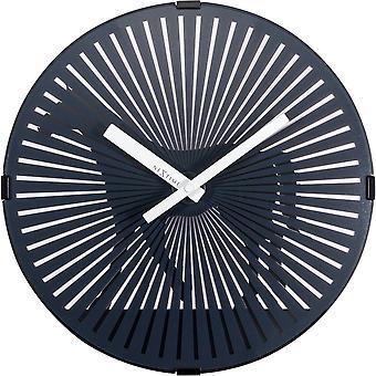 Nextime-vægur-Ø 30 cm-plastik-motion Clock-sort-' Walking Horse '