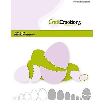 CraftEmotions Die - edges egg Card 11x9cm - 2,6-10,6cm