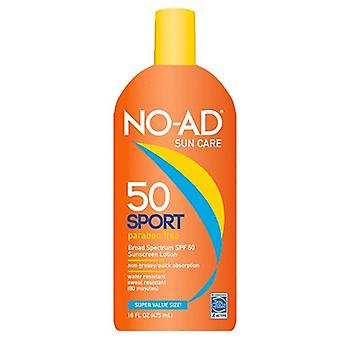 No-ad sun care sport solcreme lotion, spf 50, 16 ounce