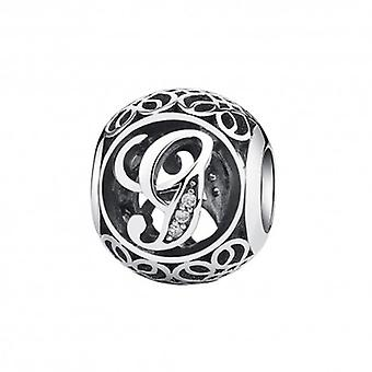 Sterling Silver Charm With Zirconia Stones Letter G - 5182