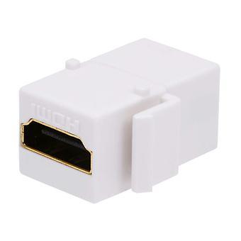 Keystone Jack HDMI Kvinde til Kvindelige Coupler Adapter - Hvid |  Forgyldt hunstik af Monoprice