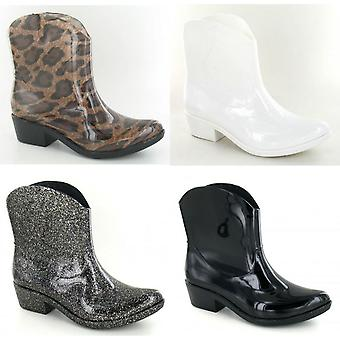 Spot On Womens/Ladies Chunky Heel Cowgirl Style Wellies