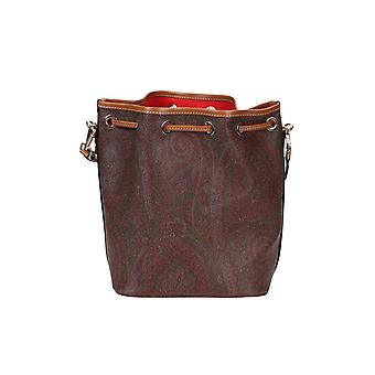 Etro 1n03976160600 Women's Brown Fabric Shoulder Bag