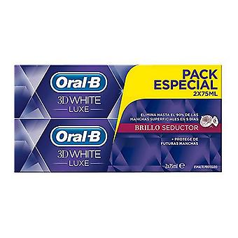 Anti-Stain Toothpaste 3d White Luxe Oral-B (2 uds)
