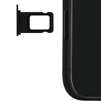 Nano-SIM card tray replacement part for Apple iPhone 11 - Black