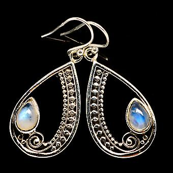 Rainbow Moonstone Earrings 1 3/4