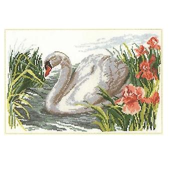 Alisa Cross Stitch Kit - Cisne Branco