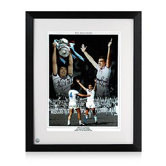 West Ham Photo Signed By Trevor Brooking And Billy Bonds: 1980 FA Cup Final Framed