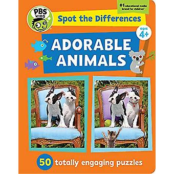 Spot The Differences - Adorable Animals - 50 Picture Puzzles - Thousand