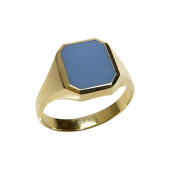 Christian gold layer stone cachet ring
