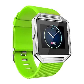 Replacement Wristband Bracelet Band Strap for Fitbit Blaze[Green,Small]
