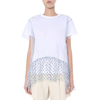 Red Valentino Tr3mg05n4yb39a Women''s White Nylon T-shirt