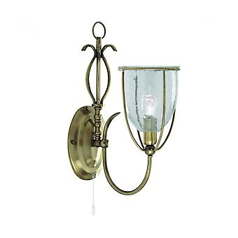 Silhouette Wall Lamp, In Antique Brass And Glass