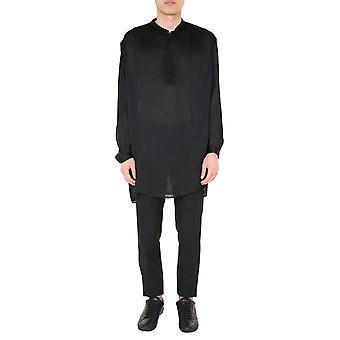 Saint Laurent 600890y1a291000 Men's Black Silk Shirt