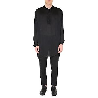 Saint Laurent 600890y1a291000 Männer's schwarze Seide Shirt